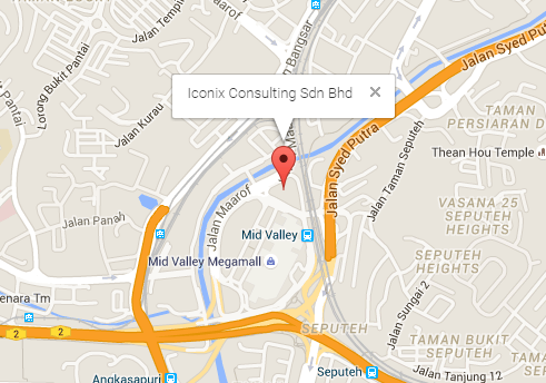 Iconix Consulting KL Office Map
